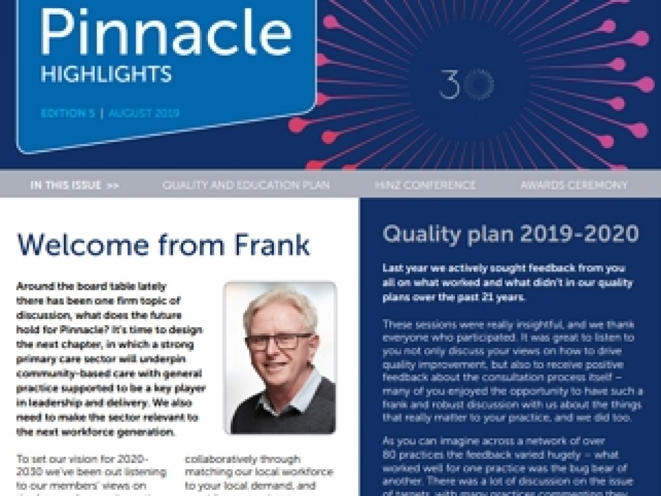 Pinnacle highlights: August 2019